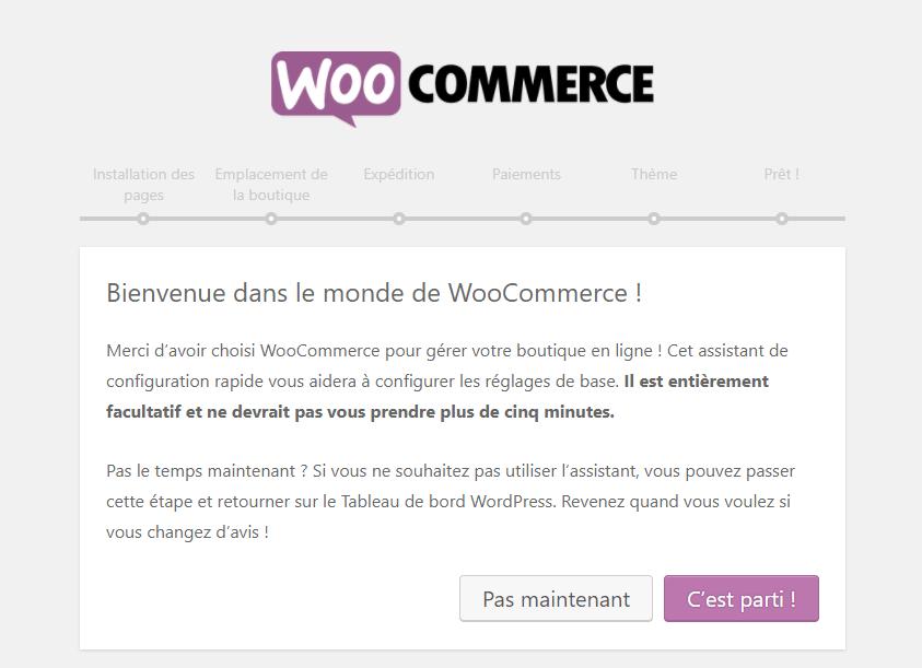 configurer Woocommerce